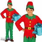 Child Boys Girls Santas Little Helper Elf Grotto Christmas Fancy Dress Costume