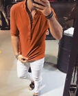 New Men&#039;s Slim Fit V Neck T-shirt Muscle Tee Casual Tops Short Sleeve Blouse <br/> ❤ Best Quality Fast Shipping ❤ US STOCK ❤Easy Return