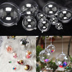 Kyпить 10X Clear Plastic Ball Baubles Sphere Fillable Christmas Ornament Craft Gift Box на еВаy.соm