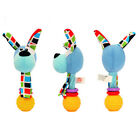 Animal Hand Bell Baby Rattles Stick Sound Infant Kids Plush Toddler Toys LD