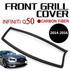 Front Grille Trim Cover for Infiniti Q50 S Moulding Trim Outline Overlay Black