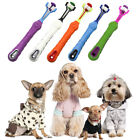 Dogs Toothbrush Three Sided Pets Clean Mouth Teeth Care Cleaning Grooming Tools
