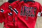 NWT Los Angeles Angels MLB Cotton Women Red Shirt by Campus Lifestyle S, M, L on Ebay