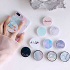 Marble Pattern Universal Pop Up Phone Holder Expanding Stand Tablet Hand Grip