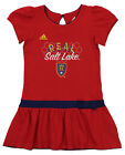 Adidas MLS Little Girl's Real Salt Lake Floral Pitch Dress, Red