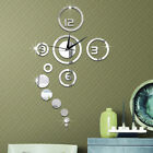 3D Clock Watch Wall Decor Acrylic Removable Stickers Home Art  Mirror Surface US