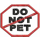 Do Not Pet Service Dog Patch Octagon Dog Vest Crest Working Dog Black Red White