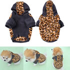Pet Dog Puppy Winter Warm Hoodie Coat Leopard Sweater Jumper Costume Apparel New