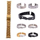 Men Stainless Steel Strap Band Clasp Metal Watch Bracelet Replacement Wrist Belt image