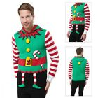 Threadbare Mens 3D Elf Suit Christmas Jumper Hooded Festive Winter Xmas Sweater