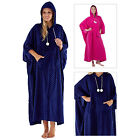 Lady Selena Womens Philippa Long Poncho Hooded Coral Fleece Spotted Nightwear