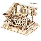 Wooden Mechanical Building 3D Puzzle Kit Assembly Gear Educational Toy Train