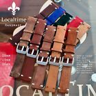 Handmade Premium Italian Calf Leather Watch Straps 18-19-20mm 16 Colour Combos