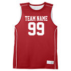 Custom Basketball Jersey / Red Sleeveless Jerseys / Team Uniform / Tank Top
