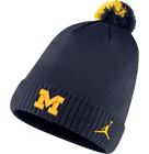 NWT Jordan Men's Michigan, Florida, Oklahoma, NC Football Sideline Pom Beanie