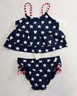 Внешний вид - NWT Baby Gap Girl 18-24 Months 2t 3t American Flag Tankini Swimsuit Bathing Suit