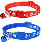 Cat Collar and Bell With Safety Quick Release Break Away Buckle, Suitable and Ad