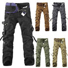 Mens Camping Army Work Cargo Combat Military Trousers Camouflage Tactical Pants