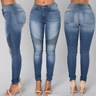 Women  s High Waist Denim Pants Slim Pencil Trousers Stretch Ripped Skinny Jeans