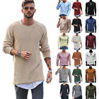 Men Winter Autumn Long Sleeve Muscle Tee T-shirt Casual Solid Color Shirts Tops
