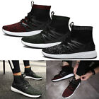 Mens Run Sneaker Work Boot Fly Weave Vamp Rubber Sole High Top Fashion Shoes US