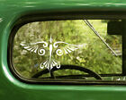 2 TRIBAL BIRD DECAL Stickers For Car Window Truck Bumper Laptop Jeep Rv