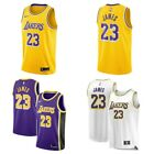 LeBron James Los Angeles Lakers Jersey Men Adult Gold, White Purple #23 STITCHED