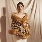Faux Fur Stole Elegant Bridal Wedding Long Shawl Scarf Wrap Shrug Outerwear Coat