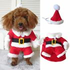 Pets Dog Christmas Santa Clothes Costume & Hat Outfits Coat Puppy Hoodie Apparel