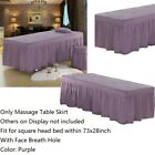 Beauty Bed Cover Massage Table Sheet with Bed Skirt with Breath Hole 73x28""