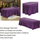 """Beauty Bed Cover Massage Table Sheet with Bed Skirt with Breath Hole 73x28"""""""