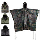 Внешний вид - Bike Waterproof Army Hooded Ripstop Festival Rain Poncho Military Camping Hiking