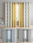 4 Pack: VCNY Home Geometric & Solid Grommet Curtains - Assorted Colors & Sizes