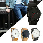 Men's Fashion Sport Stainless Steel Case Leather Band Quartz Analog Wrist Watch image