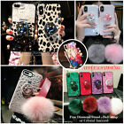 iPhone XS MAX XR 7 8P&Note 9 S10 Bling Diamond Stand Plush Ball Airbag Grip Case $5.99 USD on eBay