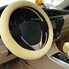 Plush Fur Fluffy Car Steering Wheel Cover Handbrake Cover Gear Knob Cover UK