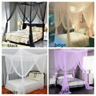 4 Corner Post Bed Canopy Mosquito Net Full Queen King Size Netting Bedding image