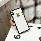 Protective Luxury Leather Back Square Case Cover For iPhone XS Max XR 8 7 6 Plus