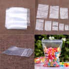100X Clear Grip Self Press Seal Resealable Zip Lock Plastic Bags Practical SY