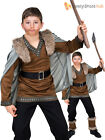 Boys Barbarian Costume Viking Anglo Saxon Warrior History Fancy Dress Book Day