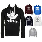 Adidas Men's Trefoil Logo Well-defined Pouch Pocket Pullover Hoodie