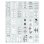 Charming Temporary Tattoo Stickers Waterproof Women Arm Body Art Decal D
