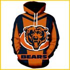 NEW! CHICAGO BEARS Hoodie NFL Football Hooded Sweatshirt Pullover S-5XL LIMITED