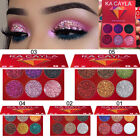 Cosmetic Glitter Eyeshadow Powder Makeup Palette Shimmer Set 6 Colors Eyeshadow