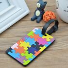 Silicone Geometric Colorful Luggage Tags Travel Suitcase Baggage ID Name Labels