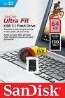 SanDisk Ultra Fit USB 3.0 16GB 32GB 64GB 128GB Flash Drive Thumb Stick Memory <br/> 100% Genuine Sandisk - Guaranteed!
