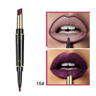 Beauty Waterproof Long Lasting Lip Liner Pencil Lipstick Makeup Lip Gloss 2 in 1