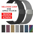 Metal Steel Milanese Mesh Loop Magnetic iwatch Band for Apple...