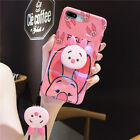 Cute Winnie Pooh Piglet Holder Stand Strap Case Cover for iPhone X XS Max 6 7 8+