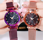 US Watch Starry Sky Diamond Dial Women Lady Bracelet Watches Magnetic Stainless  image